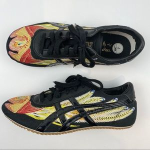 ASICS Onitsuka Tiger Shoes Black Yellow Red 7
